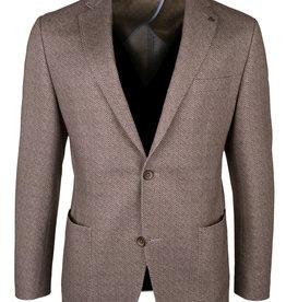 Roy Robson Brown herringbone jersey jacket