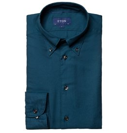 Eton Tencel flannel shirt teal