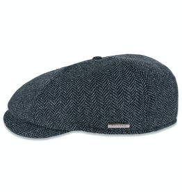 Roy Robson Dark grey herringbone cap