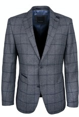 Roy Robson Charcoal Jacket with Navy check & trim