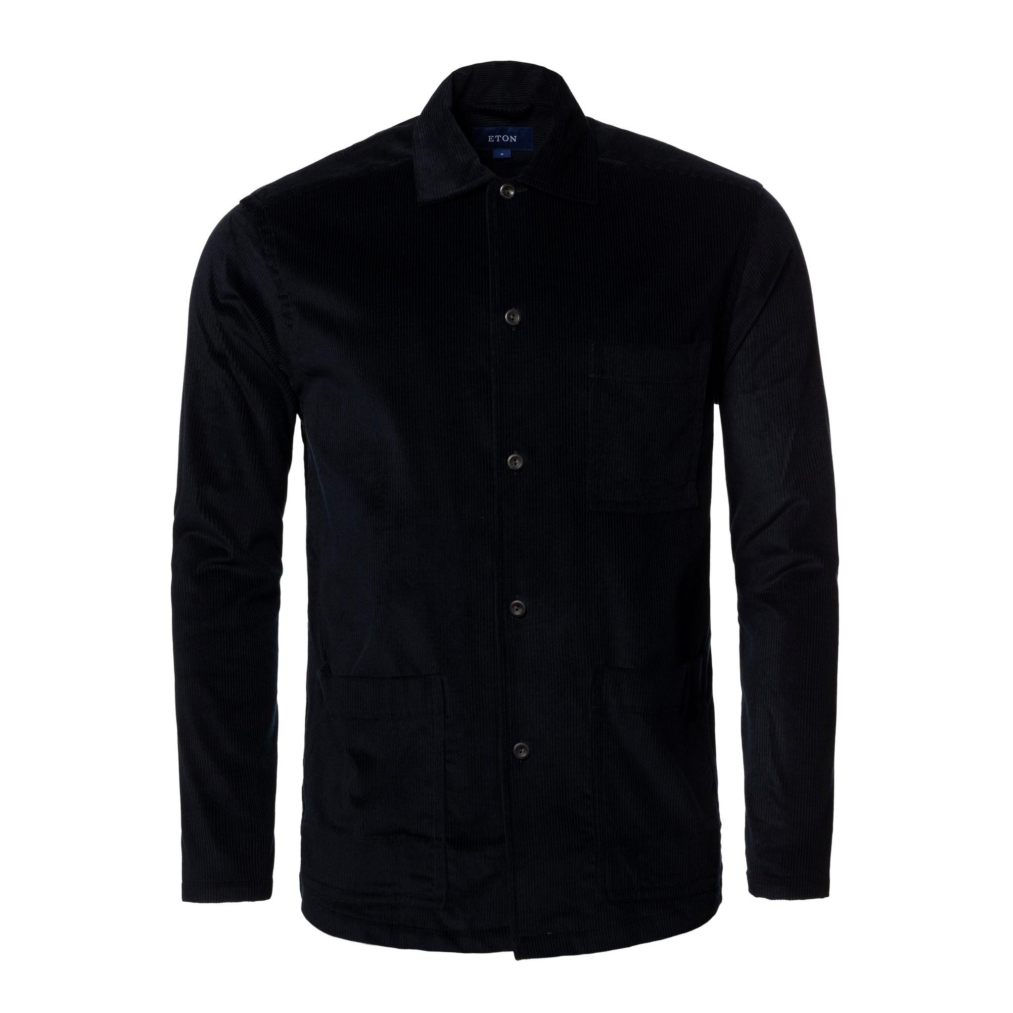 Eton Dark Blue Corduroy Overshirt