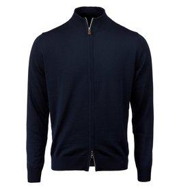 Stenstroms Merino Wool Zip Cardigan - Navy