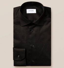 Eton Black Signature Twill shirt - Slim Fit