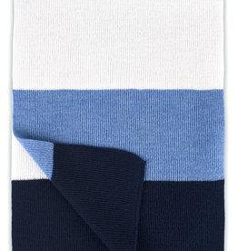 Roy Robson Bold Striped Scarf - White/Blue