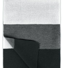 Roy Robson Bold Striped Scarf - Grey/Charcoal/White