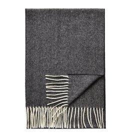 Eton Grey Herringbone Wool Scarf