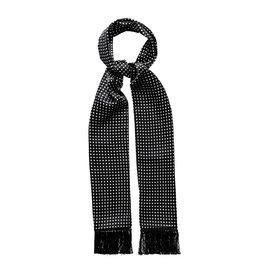 Eton Black Polka Dots Silk Scarf