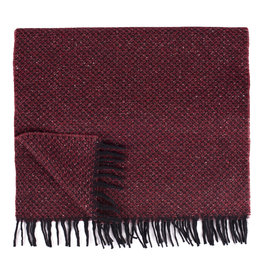 Roy Robson Red Textured Wool Scarf