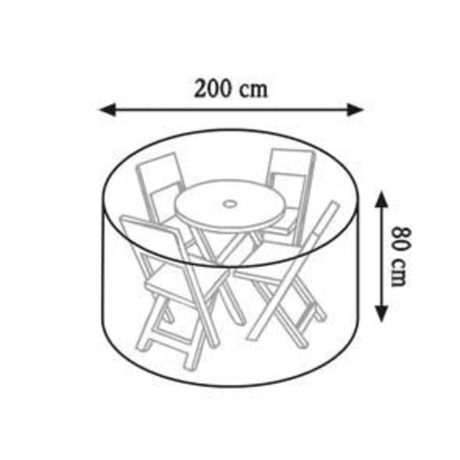 Videx Beschermhoes met lelieprint voor ronde tuintafel