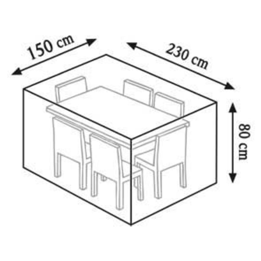Videx Beschermhoes met lelieprint voor rechthoekige tuintafel