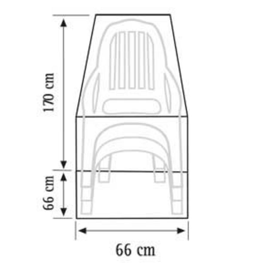 Videx Beschermhoes voor gestapelde stoelen