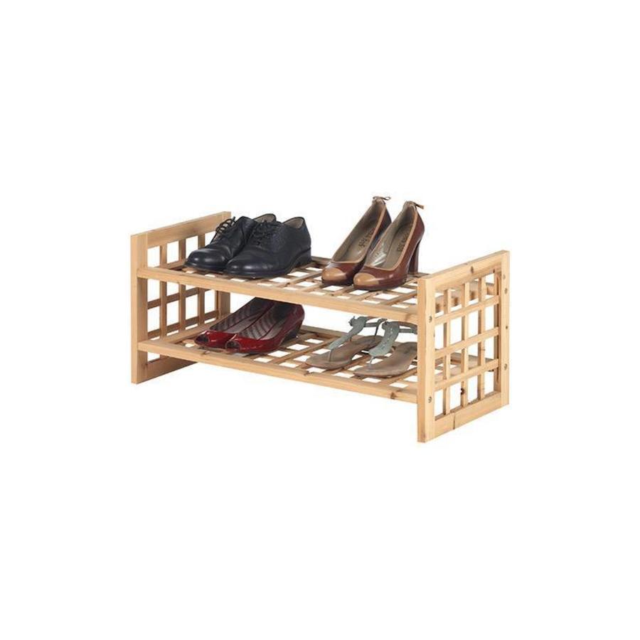 CASIBEL Houten schoenenrek voor 8 paar schoenen