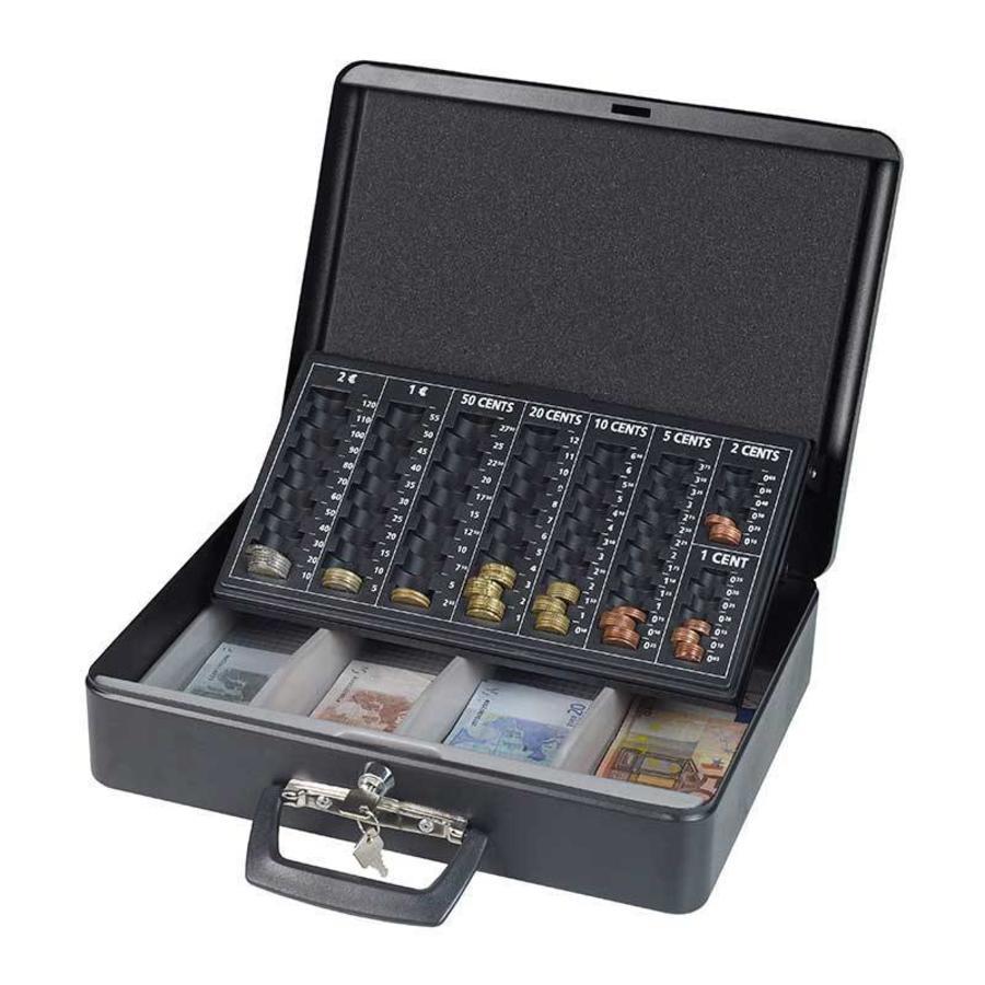 PRACTO Luxe euro geldkoffer 11 x 37 x 29 cm