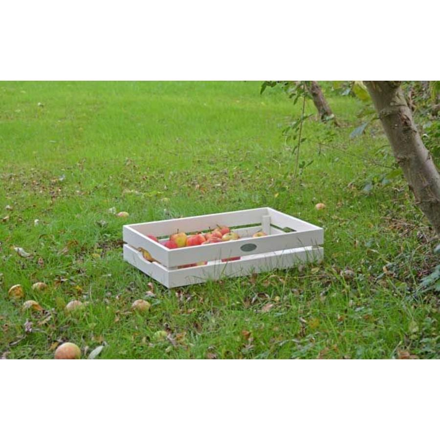 Esschert Design Houten appelkist wit stapelbaar