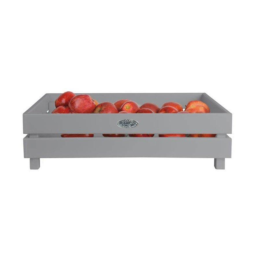 Esschert Design Houten appelkist grijs stapelbaar