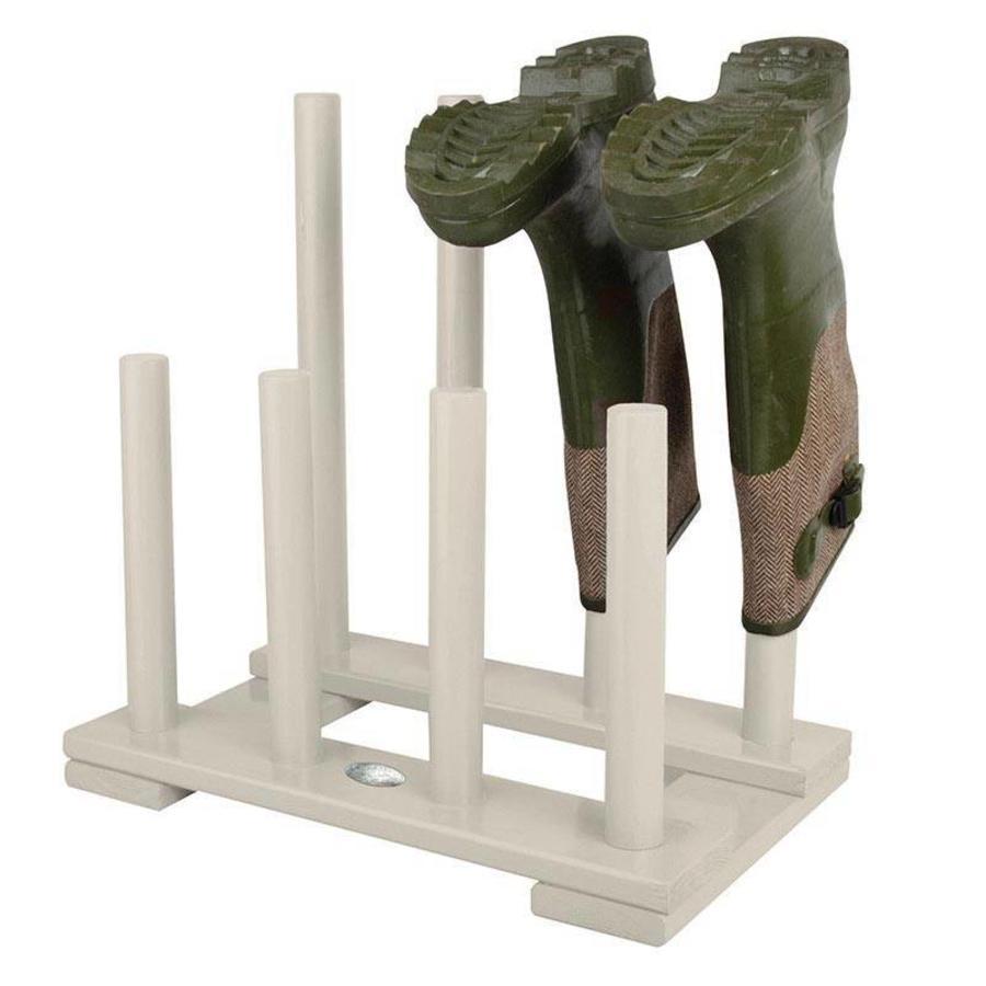 Esschert Design Laarzenrek hout wit voor 4 paar laarzen