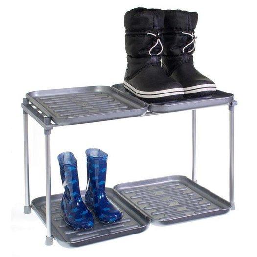 Schoenenrek en laarzenrek 4 trays