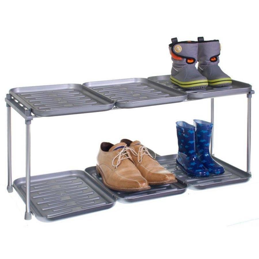RUCO Schoenenrek en laarzenrek met 6 kunststof trays