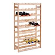 Houten wijnrek voor 54 flessen