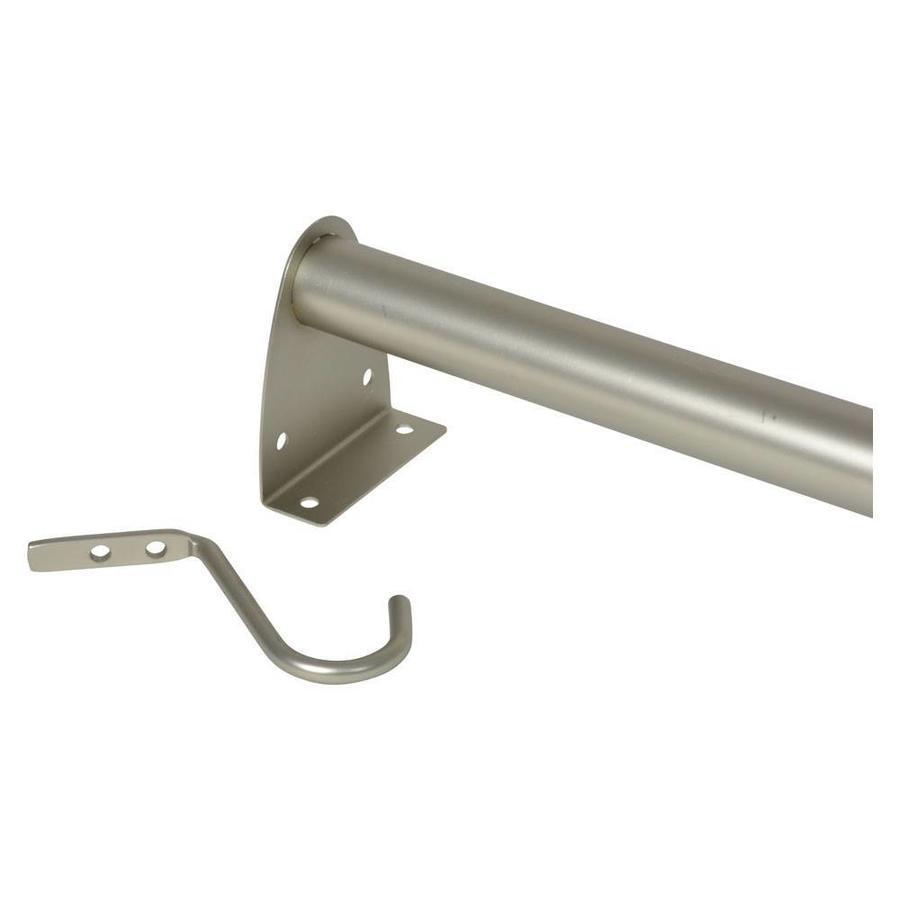 MOTTEZ Kledingroede uitschuifbaar van 68 tot 120 cm nikkel