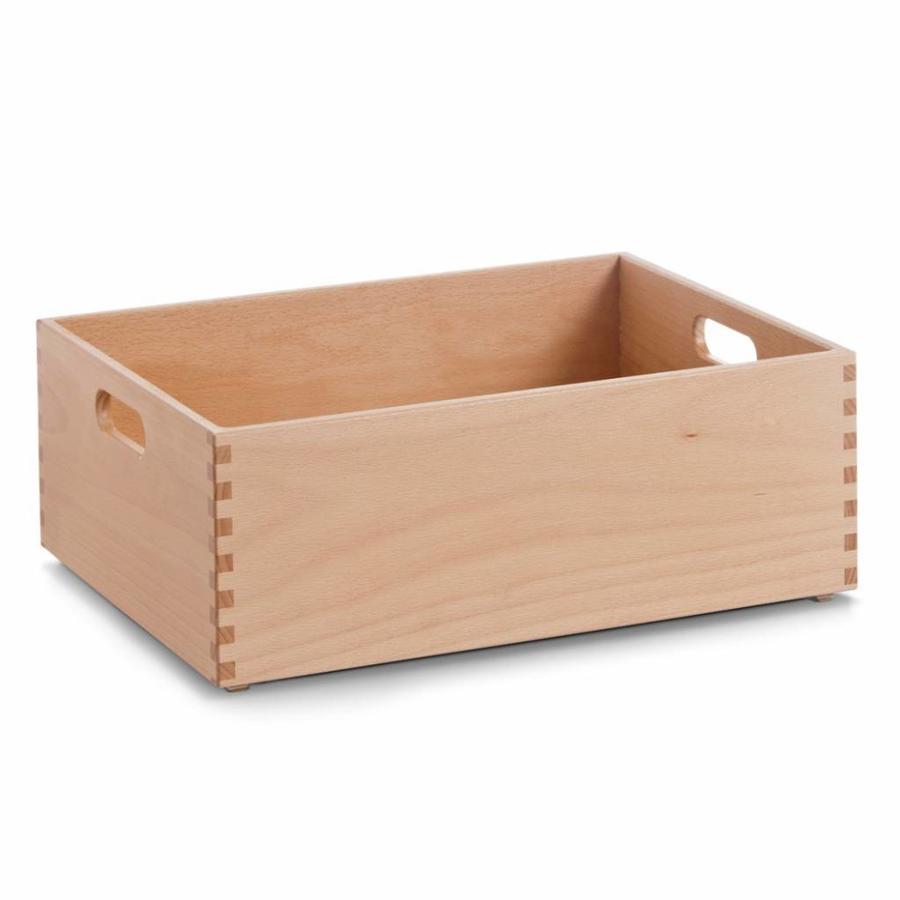 Zeller Present Houten kist van beukenhout 40 x 30 x 15 cm gelakt