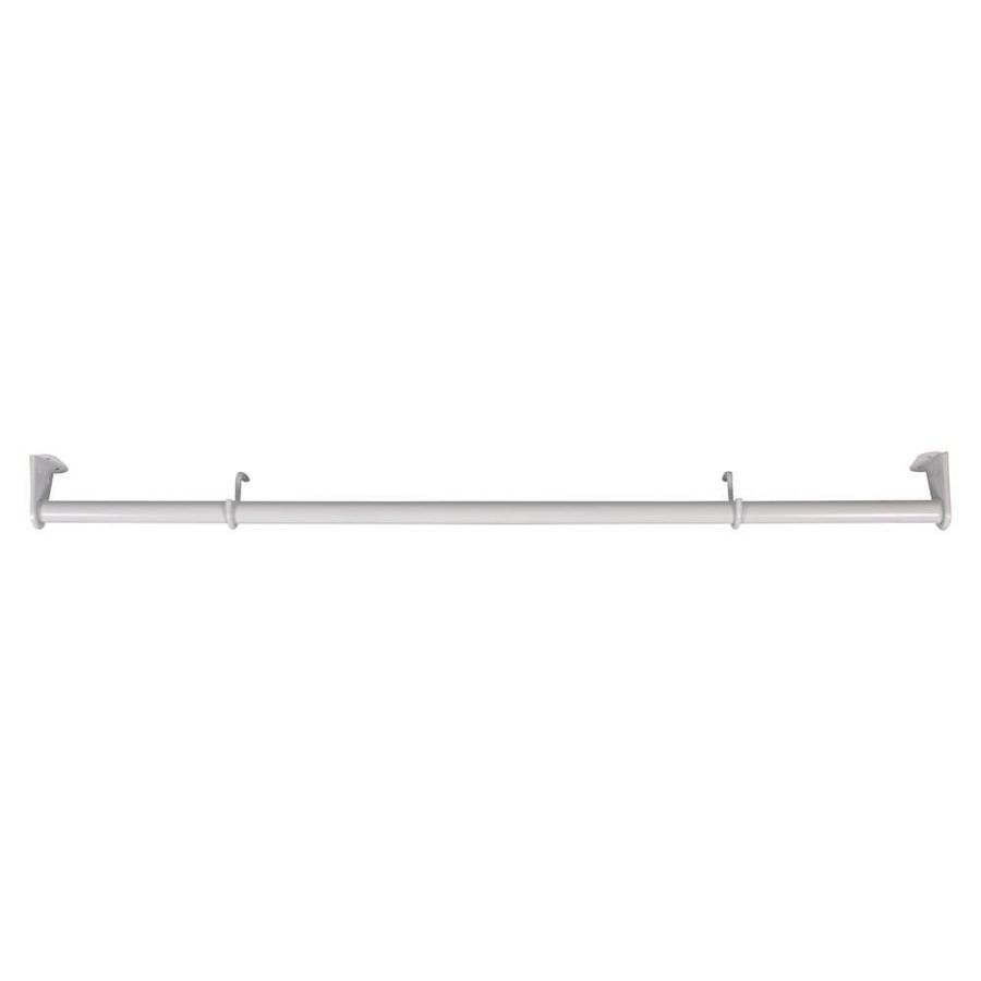 MOTTEZ Kledingroede uitschuifbaar van 110 tot 180 cm wit