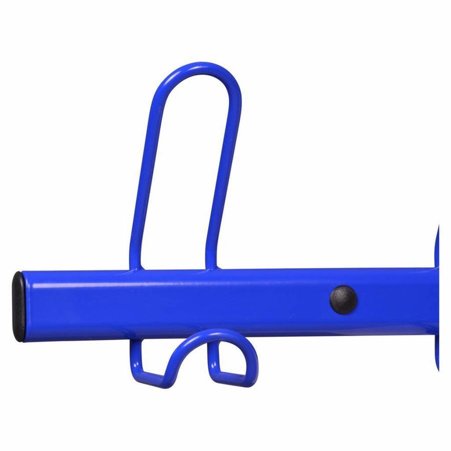 MOTTEZ Wandkapstok met 10 kapstokhaken blauw