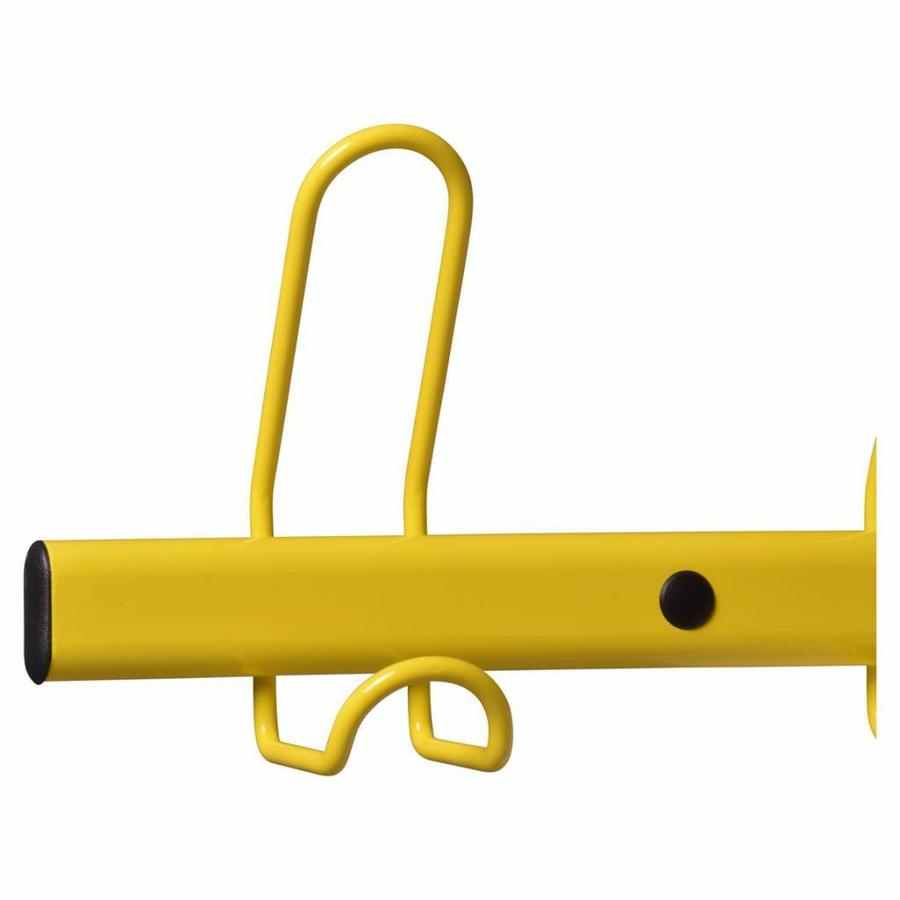MOTTEZ Wandkapstok met 10 kapstokhaken geel