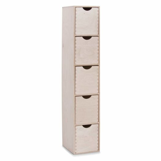 Houten ladeblok met 5 lades XL