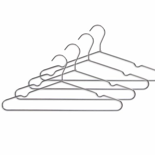 Metalen kledinghangers set 4 stuks