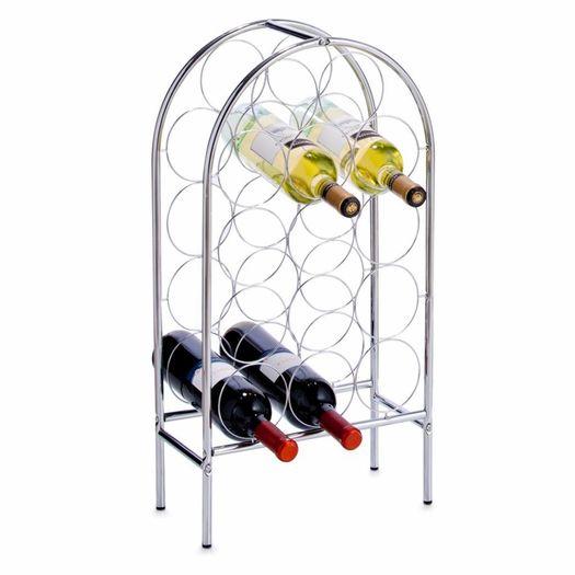 Metalen wijnrek voor 14 flessen