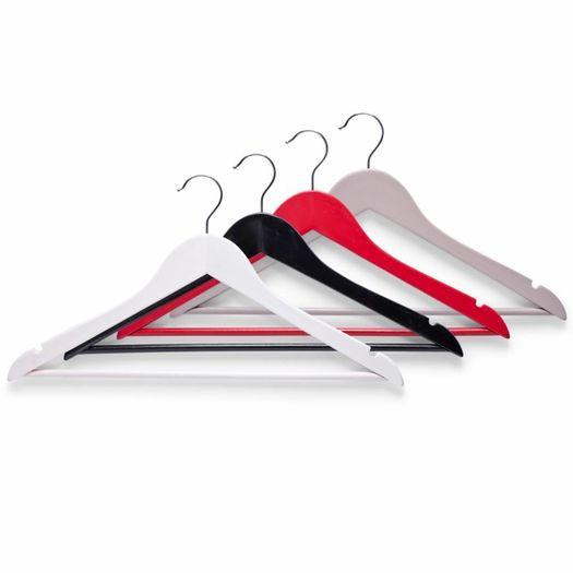 Houten kledinghangers (3 stuks)
