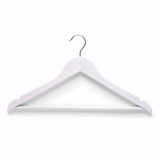 Houten kledinghangers (4 stuks) wit