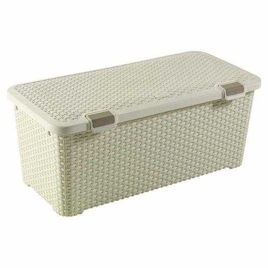 Style Trunk opbergbox 72 liter vintage wit