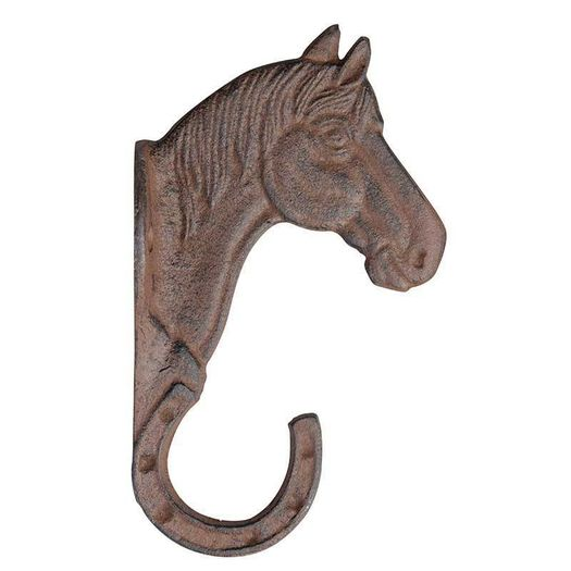 Gietijzeren kapstokhaak paard