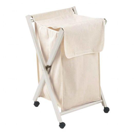 Waszak met inklapbaar frame wit
