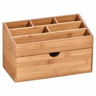 Organiser met lade bamboe