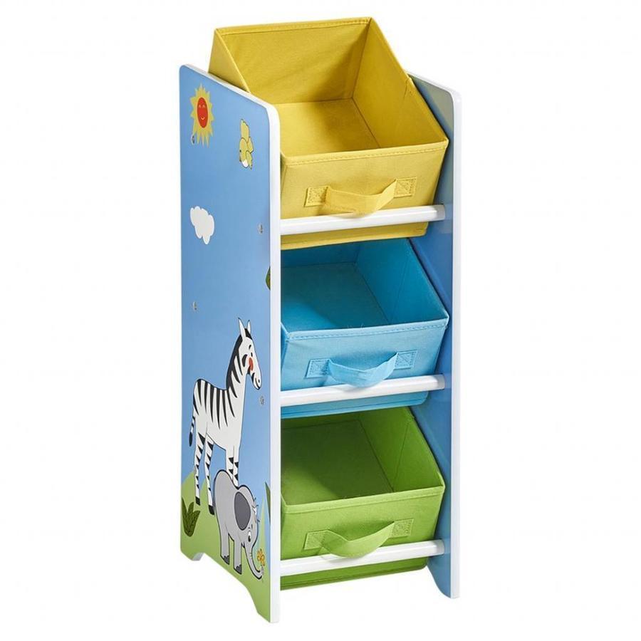 Zeller Present Opbergrek kinderkamer met 3 uitneembare boxen Safari