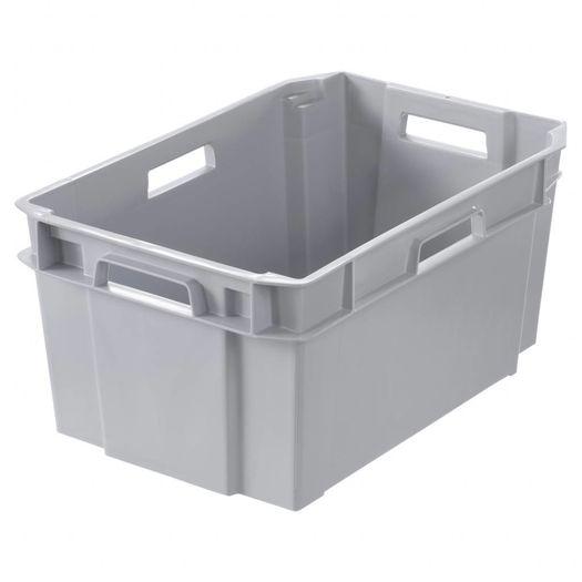 Plastic bak (60 x 38 x 28 cm) 38 liter lichtgrijs