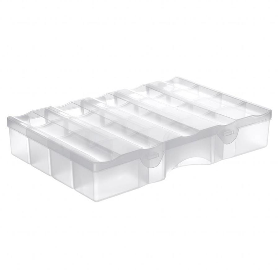 SmartStore Organiser large (38 x 27 x 7 cm) transparant met deksel