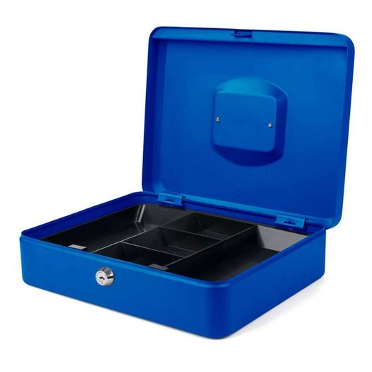 Geldkistje 30 x 24 x 9 cm blauw
