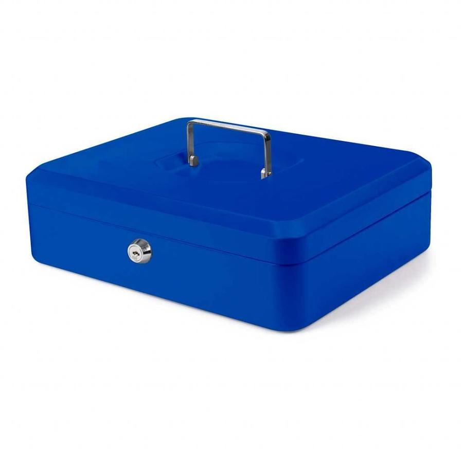 Pavo Geldkistje 30 x 24 x 9 cm blauw