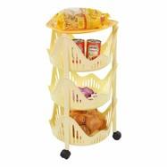 Keukentrolley rond 3 etages geel