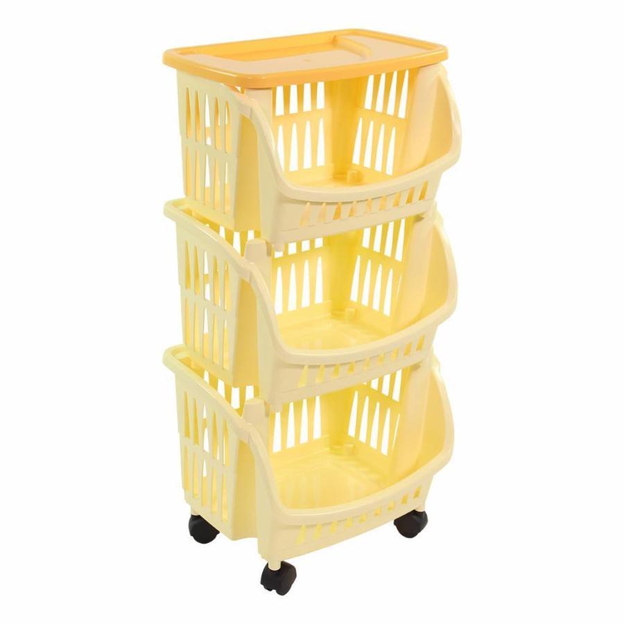 Bama Italia Keukentrolley 3 etages geel