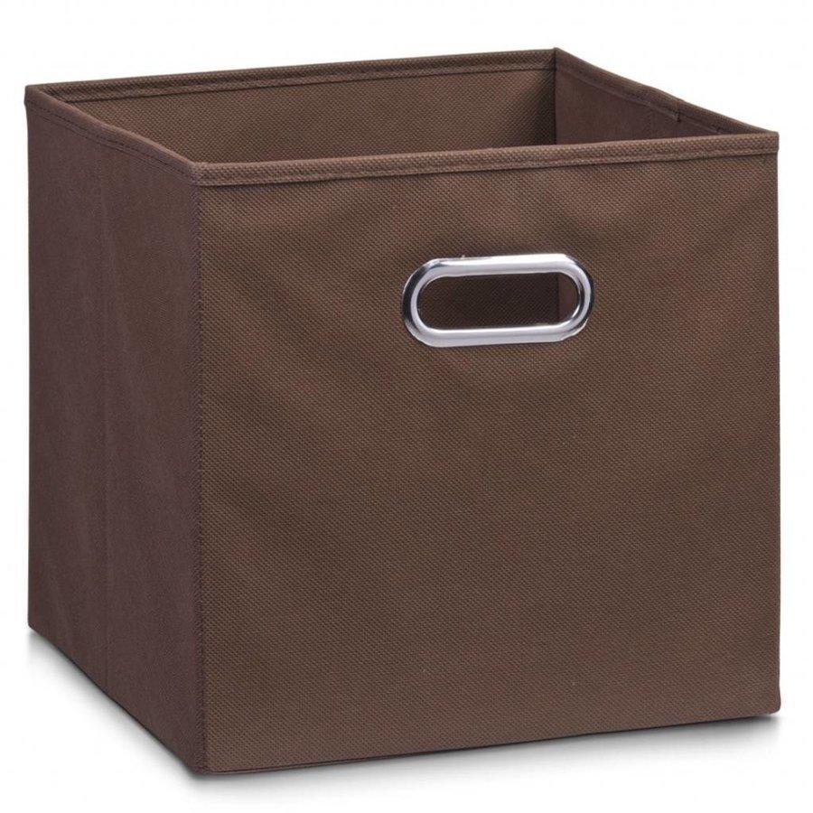 Zeller Present Stoffen opbergbox met verchroomde handgreep