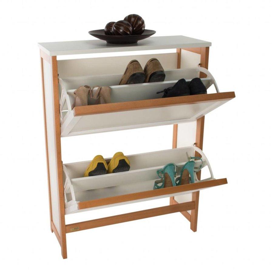 Arredamenti Italia Schoenenkast GRAZIA twee vakken voor circa 12 paar schoenen