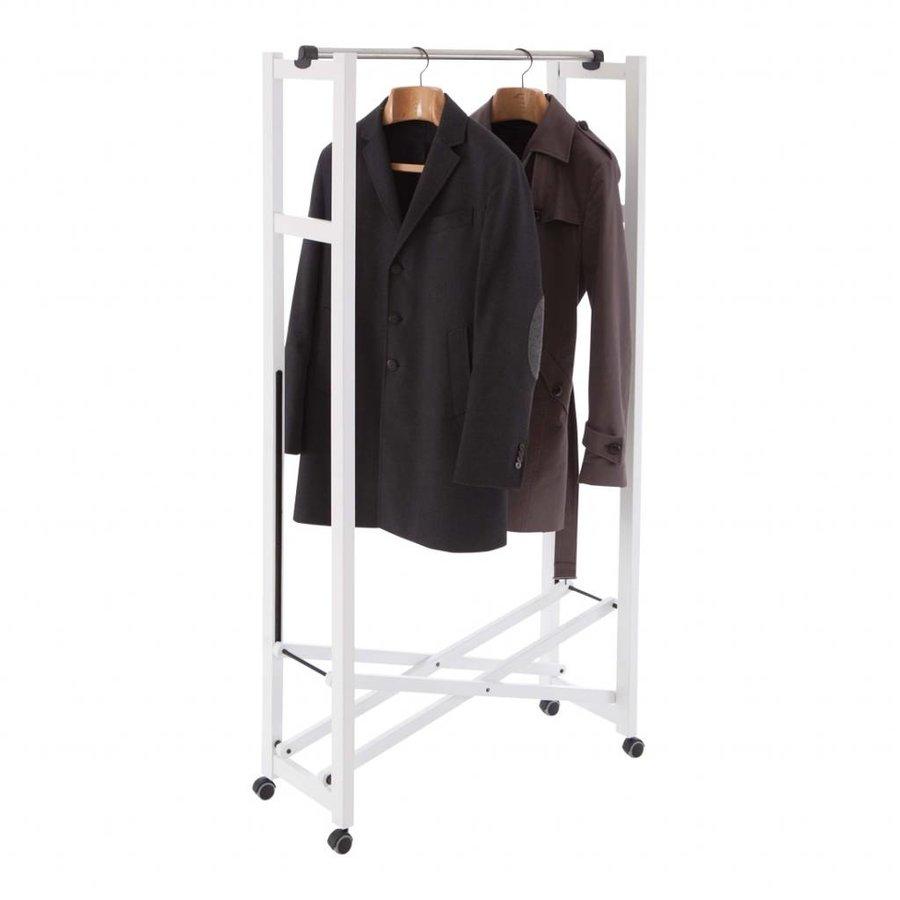 Arredamenti Italia Houten kledingrek GIULIUS inklapbaar met RVS kledingroede