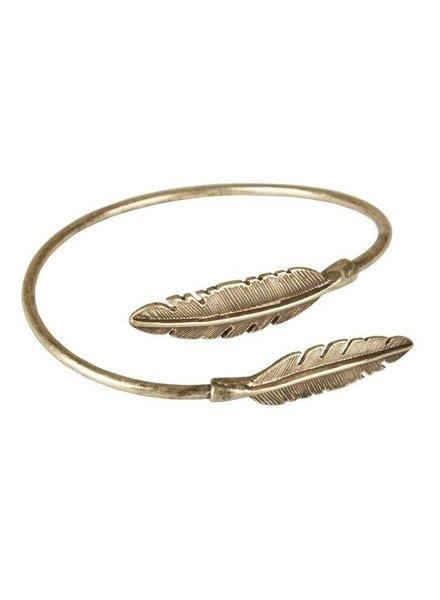 Bulu brands Bulu brands, Bracelet Two feathers come together, Cuff-gold