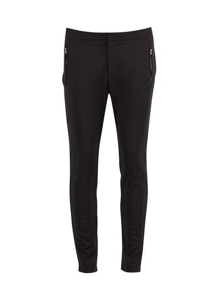 Saint tropez, Pantalon Zipper, Black