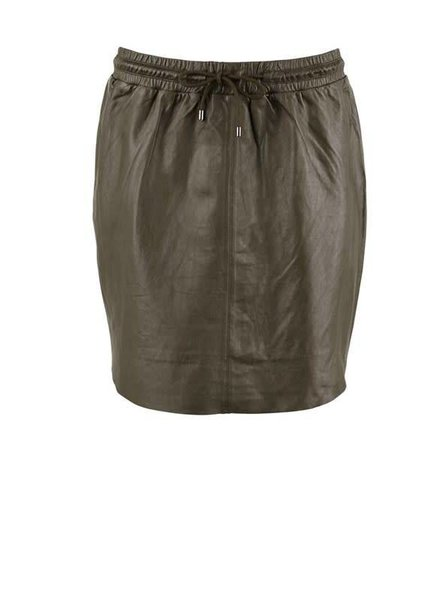Saint tropez, Skirt leather, Army green